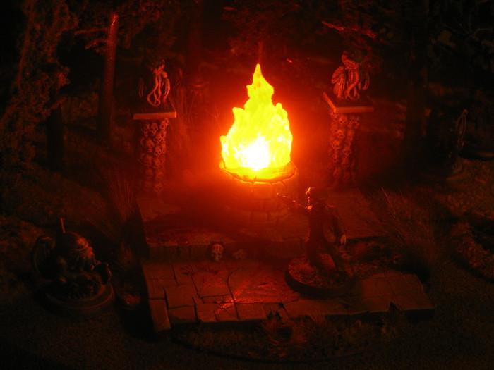 Strange Aeons Fire Scene